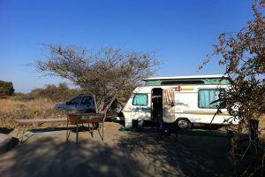 Camping in Botswana mit Wohnwagen