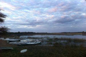 Camping am Rande des Okavango Delta's