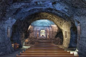 Salt Cathedral of Zipaquira. is bogota safe for tourists.