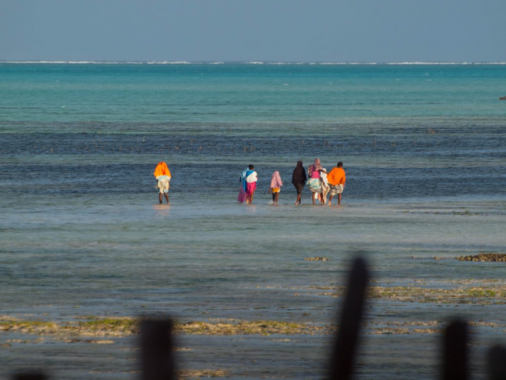 Locals at the beach in Zanzibar