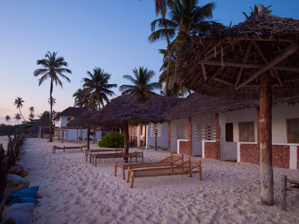 Beach huts in Zanzibar