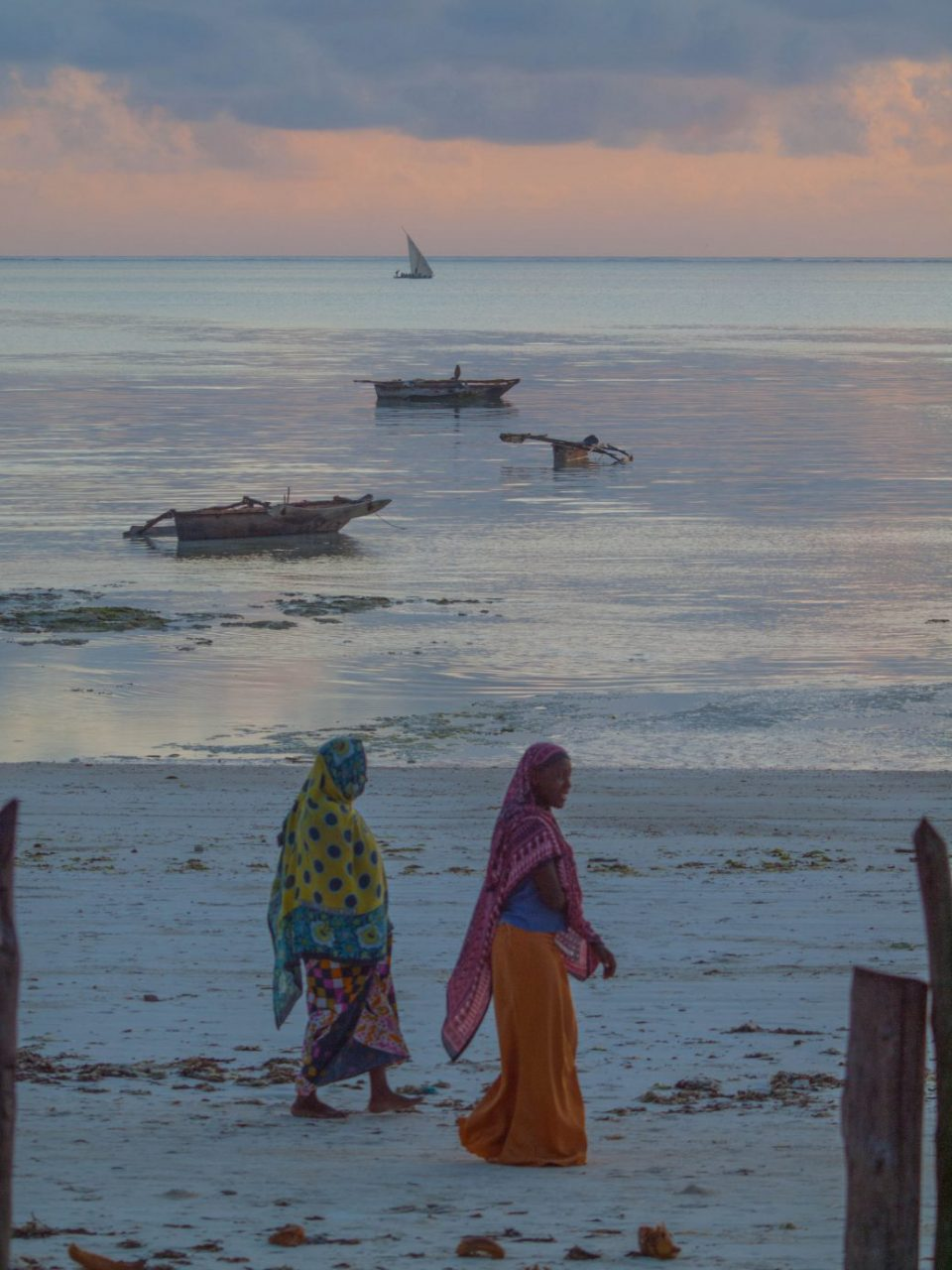Zanzibar - Muslim women on the beach
