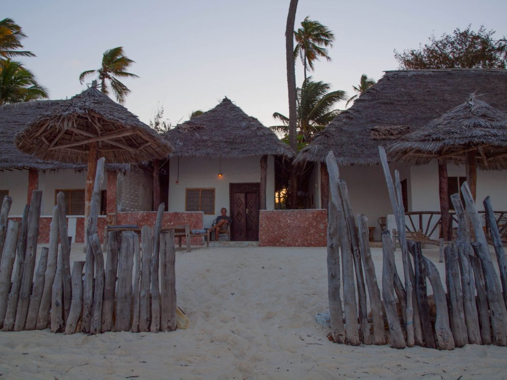 Our hut at the beach in Zanzibar