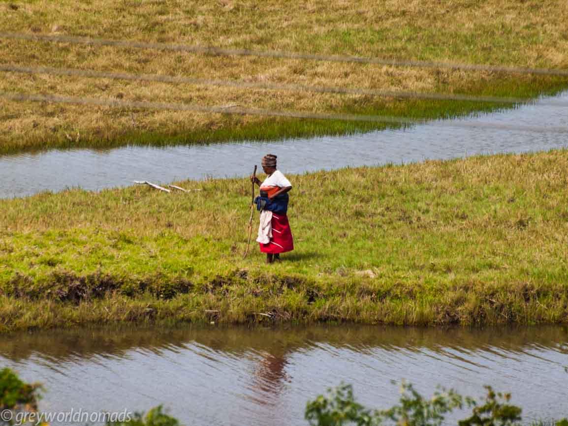 woman at the lagoon
