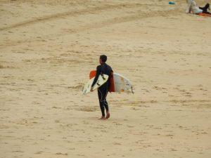 Surfing San Sebastián, Spain