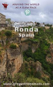 Ronda, a Spanish, medieval town spectacularly overlooking a canyon with the Sierra de las Nieves National Park, UNESCO Biosphere Reserve, at it's backdoor.