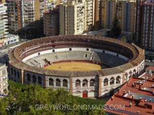 Bullring in Malaga Spain Points of Interest