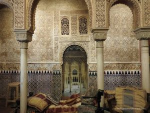 On our visit to Granada we explored parts of the fortress, Alhambra, the Moorish part of the town, Albaicin, and strolled amid the Arabic Bazaar, Alcaiceria.