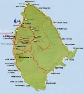 La Digue Map