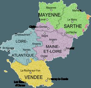 Pays de la Loire Departments